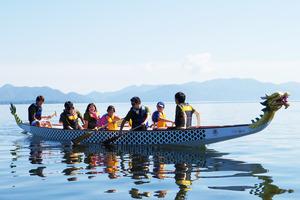 Our Dragon Boat at Lake Inawashiro