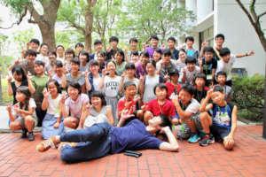 A Group Photo at Kanto-Gakuin University
