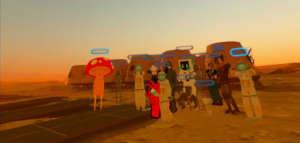 A group photo on Mars