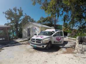 The Baark! van ready for action in Staniel Cay