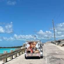 Baark truck on location in Eleuthera
