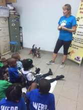 Kids talk at The Bahamas Humane Society