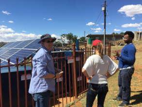 Ha Makebe Pilot Solar Microgrid - REPP visit