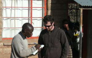 STG President Matt Orosz conducts clinic surveys