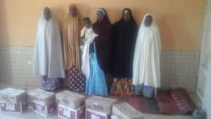 WASH Materials given to the women!!