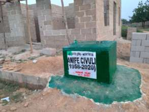 One of the three tube wells installed