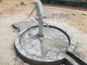 One of the completed hand pumps
