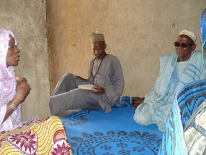 Discussion with the chief Imam of the community