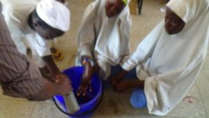 Demonstration of handwashing
