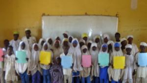 Gadan Children saying THANK YOU in their own way