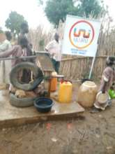 Completed rehabilitated hand pump for our children