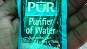 The water purifier distributed