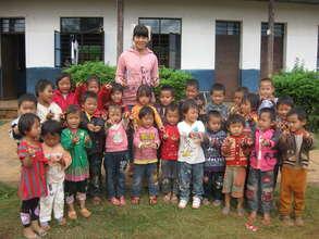 Our preschool teacher and kids