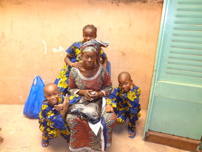 Children with a guest in Bamako