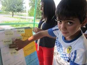 Vazgen during the lesson