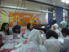 g4g girls in the lab in Jordan