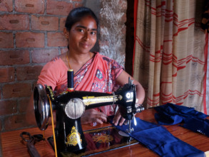 Thank you for giving a woman a sewing machine