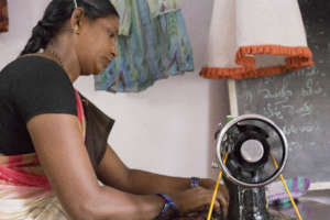 You provided a sewing machine to a mom in India