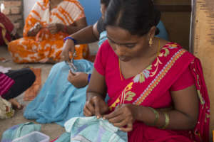 You gave a mom in India a free tailoring education