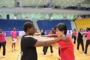 Cameron at UNOSDP Youth Leadership Camp in Doha