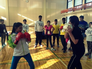 Boxing classes at YLC 2015