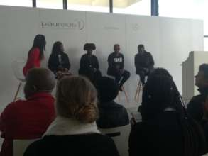 Boxgirls Coach Thembisa at panel discussion