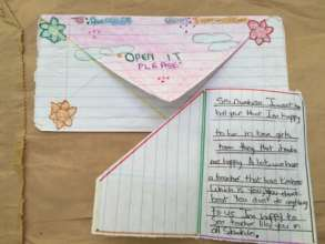 Letter from programme participant to her coach