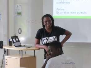 Inga from Boxgirls South Africa at UNOSDP camp