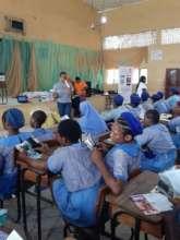 Facilitator Providing Tips to Manage Menstruation