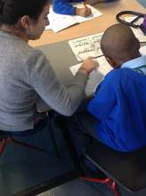 Lillian working with Year 4 student