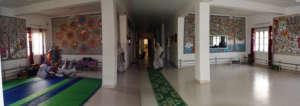 Inside Maitri Ghar in Vrindavan