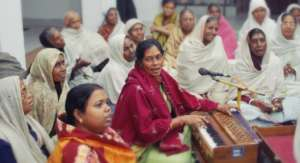 At Radha Kund Home widows assemble for devotion