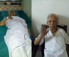 Chapla, when hospitalised and now recovering