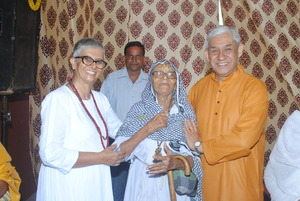 Welcoming a widow mother to the Old Age Home