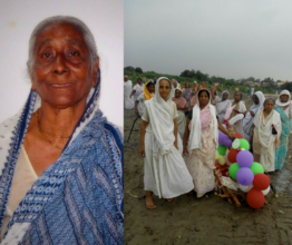 Last rites of Dulari by widow mothers