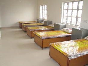 A view of a dormitory at the Old Age Home