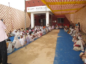 Widows awaiting the opening of the Old Age Home