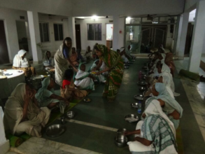 Evening Meals being served at Maitri Ghar