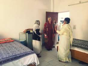 Founder of Maitri visiting widow mothers