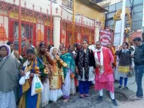 Widow mothers travel to Haridwar