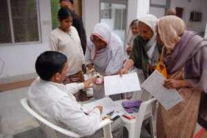 Women get weekly health check ups