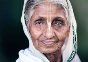 One of the widows at Maitri's Old Age Home