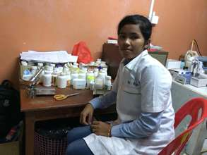 Chenda hopes to open the first pharmacy in town!