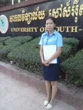 Chanthoeun attending her accounting class