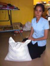 Kanha receives monthly rice from the program