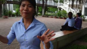 Namthorng at the Royal University of Phnom Penh