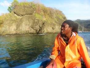 Grenadines Volunteer Patrol member surveys nests.