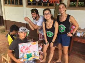 Our seaturtle team at the school/ Xmas party