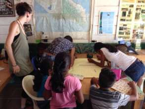 Children at our environmental education room