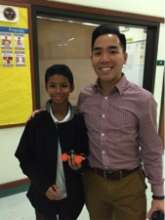 Bay Area Spark student Kheilaun and his mentor